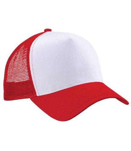 Beechfield Trucker Cap in red / white Rot / Weiß (Shirt Kap Red)