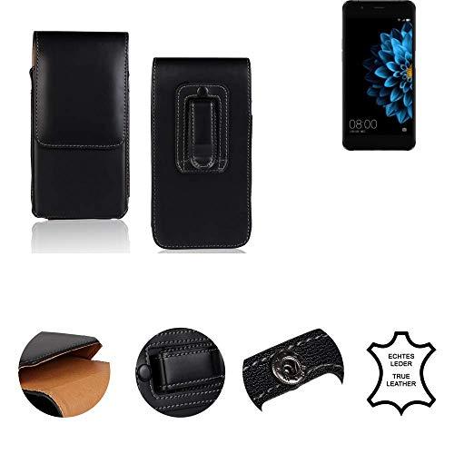 K-S-Trade® Gürtel Tasche Für Hisense A2 Handy Hülle Gürteltasche Schutzhülle Handy Tasche Schutz Hülle Handytasche Seitentasche Vertikaltasche Etui, Leder Schwarz, 1x