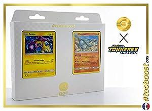 Raikou 79/214 Y Donphan 112/214 - #tooboost X Soleil & Lune 8 Tonnerre Perdu - Box de 10 Cartas Pokémon Francés + 1 Goodie Pokémon