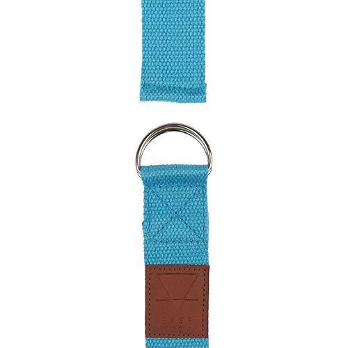 57064bdff1 Yogi-Bare Yoga Gurt 182cm x 3.8cm Natürliche Baumwolle weiten gürtel - Blau