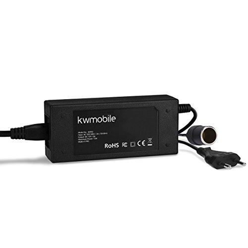 kwmobile Adaptateur de Tension 230V vers 12V - Convertisseur électrique Allume-Cigare vers Prise câble 1,82m env - Redresseur appareils 72W Max