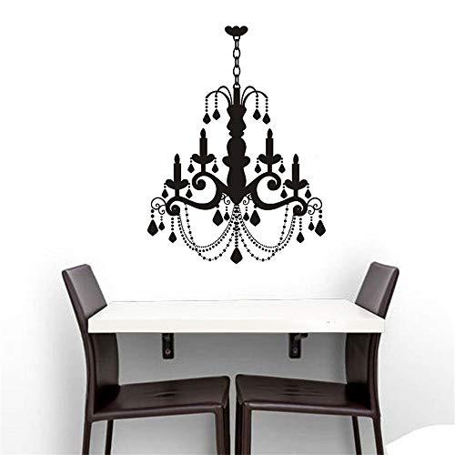 shentop Nuovo Arrivo Impermeabile in PVC Grande Vecchia Moda Candela lampadario Decalcomanie in Vinile Adesivi per la casa per soggiorno59 * 78cm
