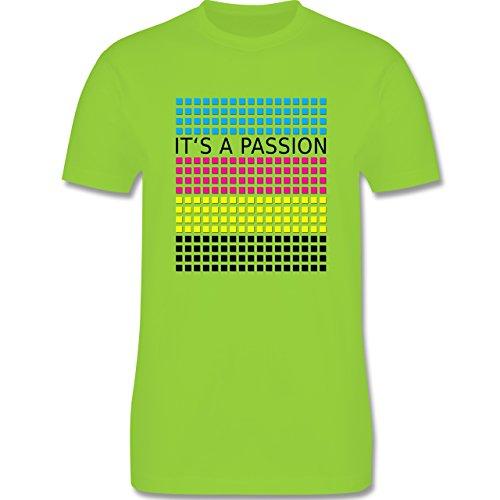 Nerds & Geeks - It's a passion - CMYK - Herren Premium T-Shirt Hellgrün