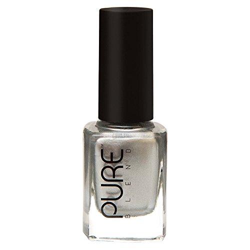 PURE BLEND Toxic Free Luxury Nail Polish - Molten Metal - Silver Spark - Metallic - 9 ml