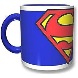 2BNerd 84133 Multicolor Té 1pieza(s) taza y tazón - Taza/vaso (Té, Solo, 0,32 L, Multicolor, Cerámico, Superman)
