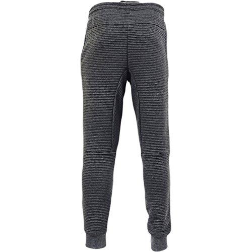 Just Hype -  Pantaloni sportivi  - Basic - Uomo Ribbed Jogger - Charcoal
