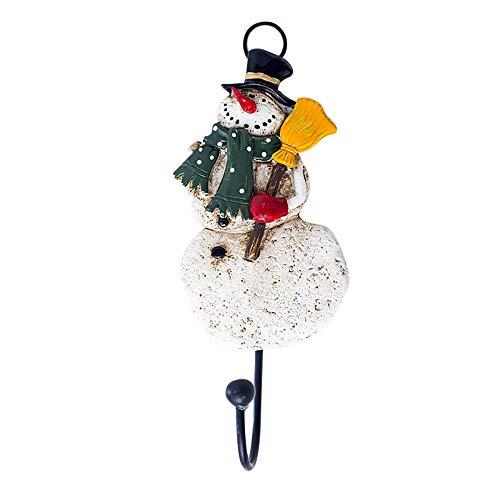 Elecenty Haken Hooks Wandhaken Home Fashion Santa Claus Keramik Harz Duschvorhang Haken Weihnachten Kreative Wandhalter