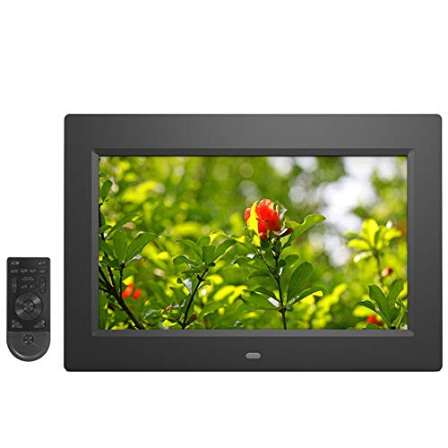 Digital Photo Frame,10-Inch IPS voller Ansicht Breitbild-LCD-Panel, in 16GB Memory,MP3/MP4 Player Elektronischer Bilderrahmen,Black