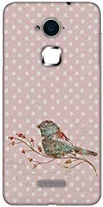 Snoogg Bird Grunge Hard Back Case Cover Shield For Coolpad Note 3 (White, 16GB)