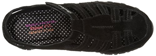Skechers Bikers Giribaldi piatto Black Suede