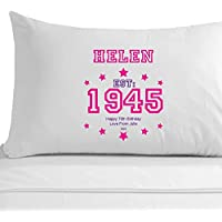 Federa per cuscino personalizzato per il  ° compleanno, per  ° compleanno regali per lei, da donna, per il  ° presenta