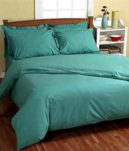 homescapes drap housse de luxe sp cial matelas epais de couleur turquoise pour 2 personnes de. Black Bedroom Furniture Sets. Home Design Ideas