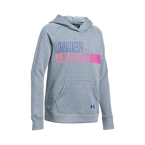 Under Armour Girls' Favorite Fleece Hoody, Steel, Large