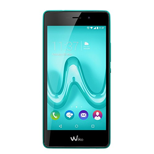"""Wiko TOMMY 5"""" Single SIM 4G 1GB 8GB 2500mAh Turquoise - Smartphones (12.7 cm (5""""), 8 GB, 8 MP, Android, 6.0 Marshmallow, Turquoise)"""