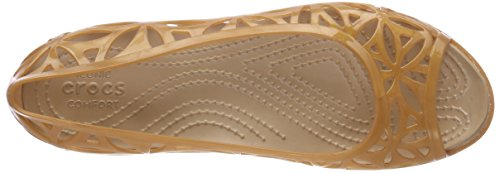 Crocs Isabella Jelly II Flat Women, Sandales Bout Ouvert Femme Or (Dark Gold/gold)
