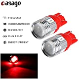 Casago CS6PR2P T10 Led Parking Light 6 SMD Car Interior/Dashboard Licence Plate Dome Bulb for Bike/Motorcycle and Cars (1W)