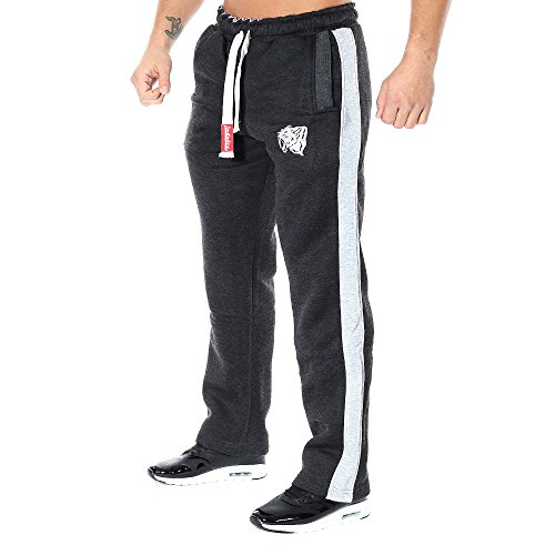 SMILODOX Herren Jogginghose 'Coovveer'   Trainingshose für Sport Fitness Gym Training & Freizeit   Sporthose - Jogger Pants - Sweatpants Hosen - Freizeithose Lang Anthrazit/Grau