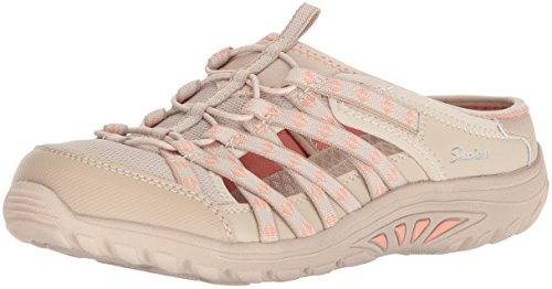 Skechers Damen Reggae Fest-Marlin Slip on Sneaker, Beige (Natural), 39 - Skechers Reggae Fest