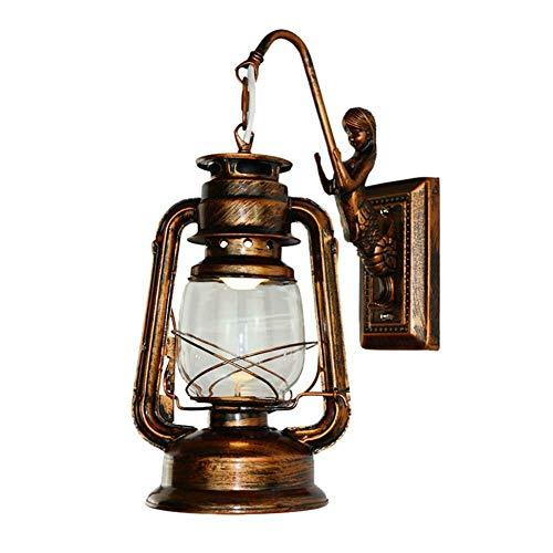 Retro Antique Vintage Rustikale Laterne Lampe Wandleuchte Leuchte Outdoor, B - Antique Bronze Outdoor-wandleuchte