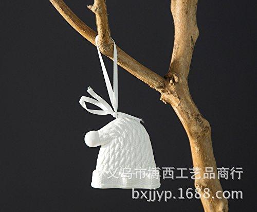 Handmade creative accessori abbigliamento cappelli scarpe guanti piccoli ornamenti in ceramica decorazioni di Natale,2,5*8*8 Hat