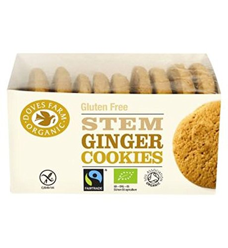 Doves Farm Gingembre Colombes Agricoles Biscuits sans Gluten 150G Gratuitement - Lot De 2