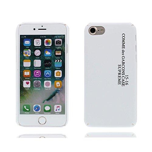 iPhone 7 Plus Custodia, Premium TPU flessibile durevole Apple iPhone 7 Plus Copertura Case 5.5 (Non per iPhone 7 4.7) Slim & Peso leggero (Graffiti Parole inglesi) rosso bianca