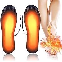 PINPOXE Semelles chauffantes, Semelle chauffante Electrique USB, Semelles Pieds Warmers, Semelles intérieures pour Chaussures Chauffe Pieds d'hiver, Taille Peut être coupé et Lavable, Taille: 40-44