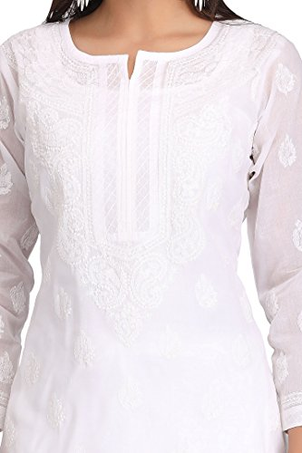 ADA-Lucknowi-Chikan-Hand-Embroidered-Regular-Fit-Cotton-Kurti-Kurta-A220999