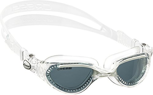 Cressi Flash - Gafas de natación unisex, color transparente / blanco / gris