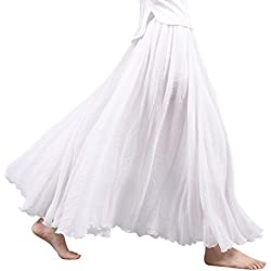 OCHENTA - Falda - trapecio - para mujer blanco blanco 90 cm