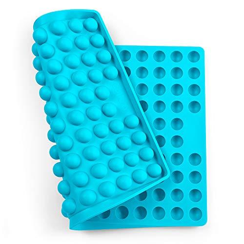 Collory Silikon Backmatte   2cm Halbkugel Backform für Hundekekse Hundeleckerlies   Hitzebeständig 240°C   40x28.5x1.5cm   Lebensmittelecht (BPA-frei)   Pralinenform (Türkis)