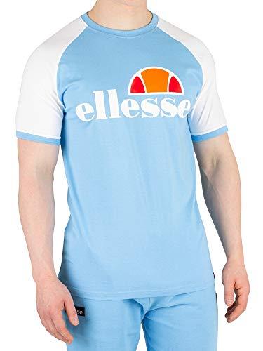ellesse Herren Cassina T-Shirt Hemd, Weiß/Hellblau, M