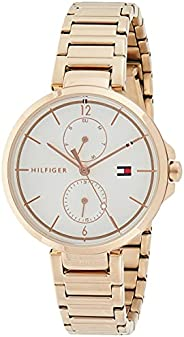 ساعة يد كوارتز من تومي هيلفجر للرجال بخاصية عرض الكرونوغراف وسوار من الستانليس ستيل - 1782124