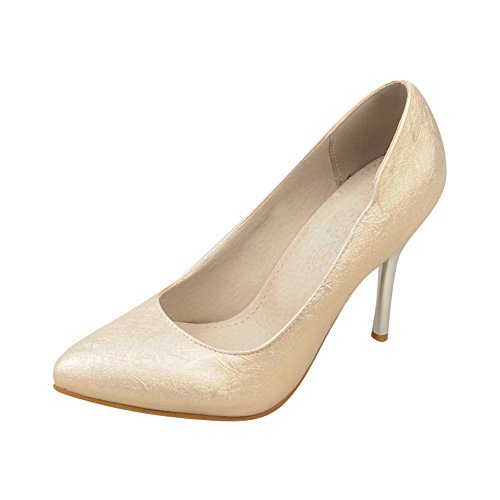 Mee Shoes Damen simpel spitz Geschlossen high heels Pumps Gold