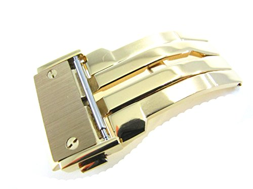 jrrs7777-22mm-stainless-steel-butterfly-deployment-watch-strap-1n14-gold-buckle-wristband-parts-fit-