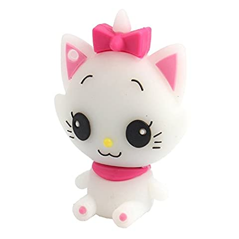 Aneew 16GB Pendrive Cartoon White Cat Animal USB Flash Drive Memory Thumb Stick