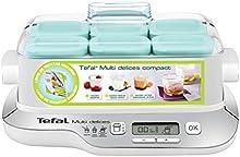Tefal YG657120 - Yogurtera eléctrica (3 funciones, 6 tarros de cristal + 6 escurridores para queso Fresco + 6 tapas)