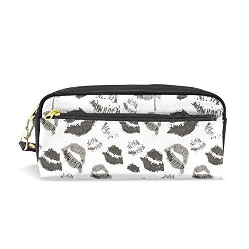 Ahomy Federmäppchen für Mädchen und Jungen, Halloween-Lippen-Symbol, Stifttasche, Make-up-Tasche, große Kapazität, wasserdicht für Frauen