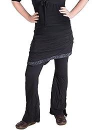 Vishes - Alternative Bekleidung - Hippie Schlag Hose mit asymmetrischem Patchwork Rock