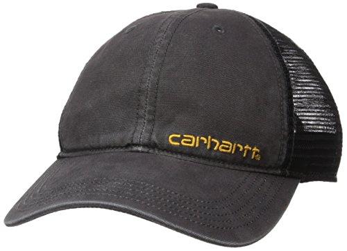 Carhartt Herren Brandt Camo Mesh Back Baseball Cap, schwarz, Einheitsgröße -