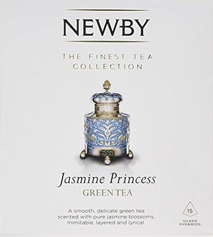Newby Teas Silken Pyramids Jasmine Princess Green Tea 38 g (Pack of 1, Total 15)
