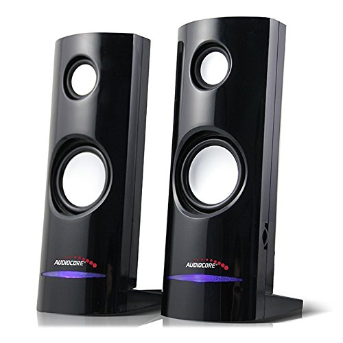 Audiocore AC860 Stereo-Lautsprecher 2.0 PC 8 Watt RMS Schwarz