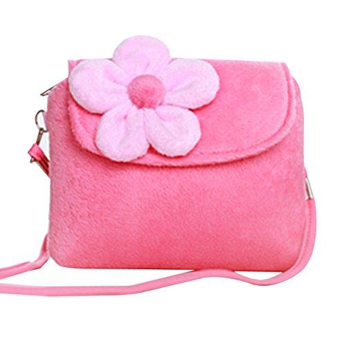 Happy Cherry Kinder Mädchen Mini Handtasche Umhängetashce mit Blumen Süß und Lieblich 14*12*4cm - (Handtasche Mädchen)