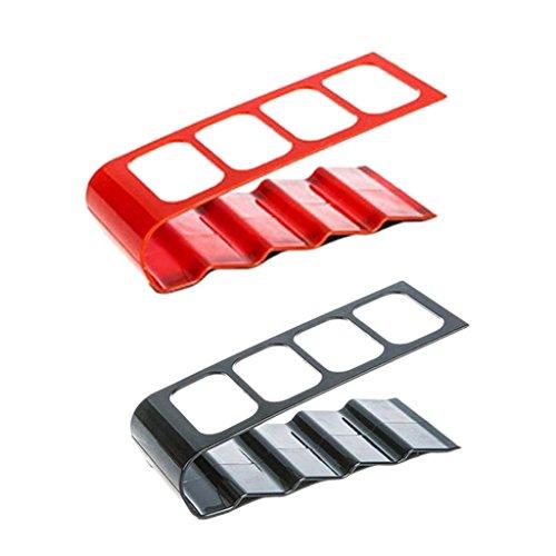sharplace 2Stück Fernbedienung Organizer, TV-Fernbedienung Regal Halter Aufbewahrung Caddy Fernbedienung schwarz und rot für Schreibtisch Tisch