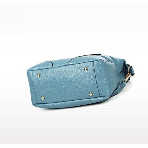 Dame Lychee Muster Handtasche Art Und Weise Temperament Tendenz Schulterbeutel Kurierbeutel 4 Farben LakeBlue