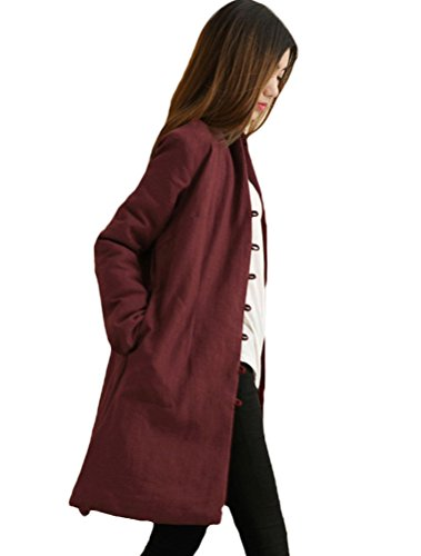 Manteau rouge femme ebay