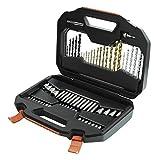 Black + Decker A7184 Mallette de forets et embouts pour tournevis Titane 70 pièces (Import Grande Bretagne)