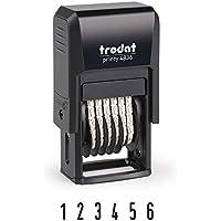 Trodat Printy 4836 - Sello para cifras (6 cifras, tamaño de tipo 3,8 mm) color negro