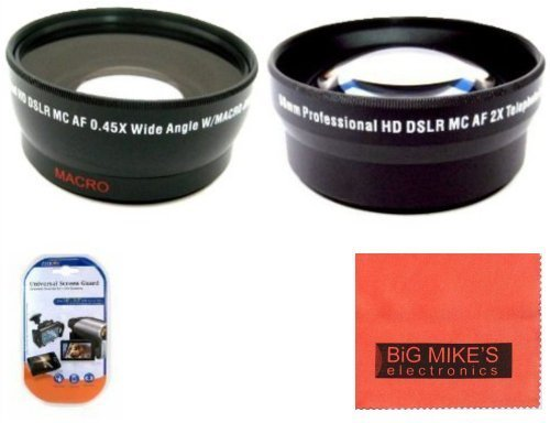 52mm 2X Telephoto Lens + 52mm 0.43x Wide Angle Lens with marco for Canon Digital EOS Rebel SL1 T1i T2i T3 T3i T4i T5 T5i EOS60D EOS70D 50D 40D 30D EOS 5D EOS5D Mark III EOS6D EOS7D EOS7D Mark II EOS-M Digital SLR Cameras Which Has Any Of These Canon Lenses 50mm f/1.8 II 135mm f/2.8 EF 50mm f/2.5 EF-S 60mm f/2.8 EF-S 24mm f/2.8 STM  available at amazon for Rs.3599