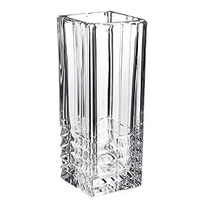 Bormioli Rocco – Florero de vidrio transparente, resistente, para decoración del hogar, de boda , cuadrado